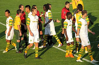 Tampa Bay Rowdies - Tampa Bay taking the field in St. Louis, 2010.