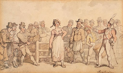 Rowlandson, Thomas - Selling a Wife - 1812-14