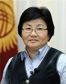 Roza Otunbayeva - Kirghizistan - 2011 International Women of Courage awards.jpg