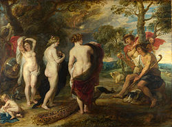 Sąd Parysa - obraz Rubensa