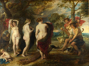 Judgement of Paris - The Judgement of Paris, Peter Paul Rubens, c. 1636 (National Gallery, London)