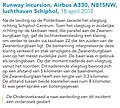 Runway incursion, Airbus A330, N815NW.jpg