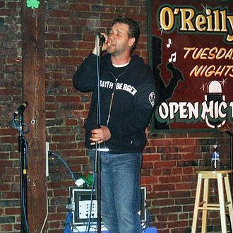 Russell Crowe - Crowe singing on open mic at O'Reilly's Pub in St. John's, Newfoundland. 13 June 2005