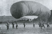 Russian Baloon in the Battle of Liaoyang 1