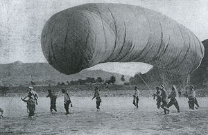 Battle of Liaoyang - Image: Russian Baloon in the Battle of Liaoyang 1