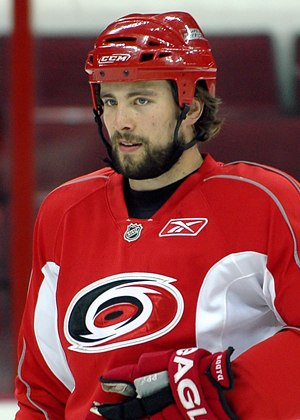 Tuomo Ruutu - Ruutu as a member of the Carolina Hurricanes.