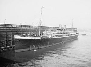 SS Bremen in port in 1905