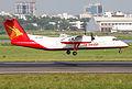 S2-AHA Bombardier Dash 8-Q314 Regent Airways Landing (8305267401).jpg