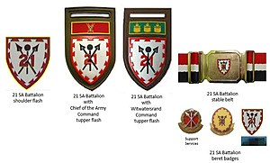 21 South African Infantry Battalion - SADF era 21 SA Battalion insignia