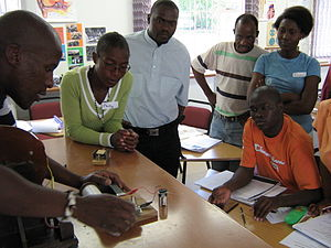 Bergville - Image: SAIEE training science teachers in Bergville at the Ukhahlamba Education Centre