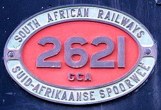 South African Class GCA 2-6-2+2-6-2 - Bilingual