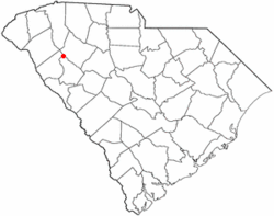 Location of Ware Shoals, South Carolina