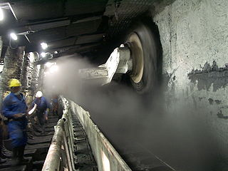 Longwall mining a form of underground coal mining where a long wall of coal is mined in a single slice