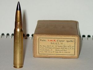 "K bullet -  A tracer variation of the 'K bullet', ""L'spur (gelb)"" or 'Tracer (yellow)'."