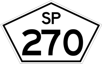 State highway - SP-270 state highway shield in the state of São Paulo