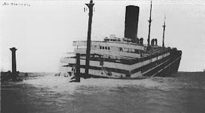 SS Dakota - Dakota one hour after going on the reef.