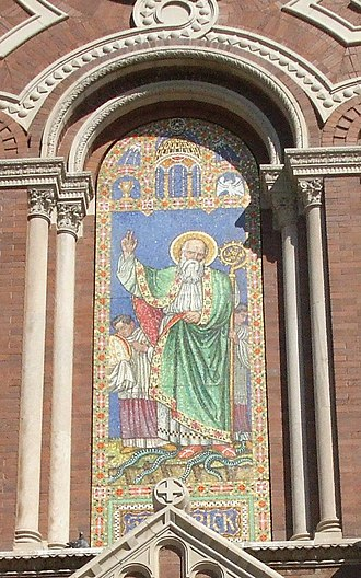 Saint Patrick - Image of Saint Patrick banishing the snakes