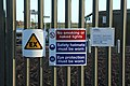 Safety Signs on Gas Installation - geograph.org.uk - 1605913.jpg