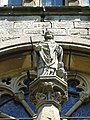 Saint-Médard (Moselle) église, statue de la façade.jpg