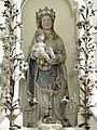 Saint-Malo-de-Phily (35) Chapelle Notre-Dame-de-Montserrat Statue de N.D. de Montserrat 01.jpg