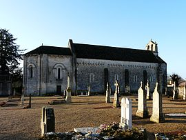 The church of Saint-Pierre and the graveyard