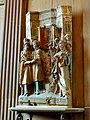 Saint-Prix (95), église Saint-Prix, bas-côté sud, fragment de retable - chantres à l'église (chapelle de la 3e travée).JPG