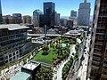 Salesforce Park and bus bridge, seen from Salesforce Tower.jpg