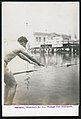 Samuels of the Missouri Athletic Club about to compete in the Plunge for Distance competition at the 1904 Olympics.jpg
