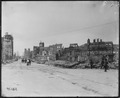 San Francisco Earthquake of 1906, Columbus Avenue looking north. The church in the distance is Saint Peter's and... - NARA - 531045.tif