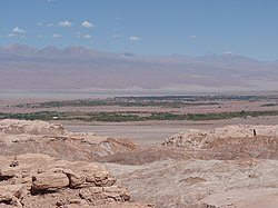 San Pedro de Atacama at the edge of the Salar de Atacama