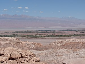 San Pedro de Atacama - San Pedro de Atacama at the edge of the Salar de Atacama