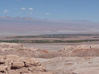 San Pedro de Atacama - San Pedro de Atacama at the edge of the Salar de Atacama