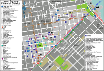 2017 Map Of Hotels In San Francisco Union Square