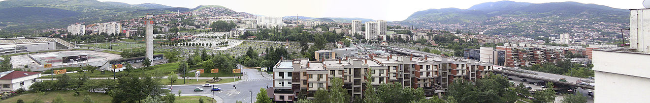 3d0923a61c2 A panoramic view of Sarajevo from Koševsko Hill (Koševsko Brdo)