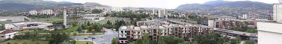 A panoramic view of Sarajevo from Koševsko Hill (Koševsko Brdo), summer 2010.