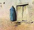 Sart woman wearing a paranja, Samarkand.jpg
