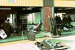 Sauber pits at the 1994 British Grand Prix (32162190510).jpg