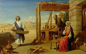 John Rogers Herbert - Our Saviour Subject to his Parents at Nazareth (1847). Oil on canvas.