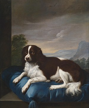 Sawrey Gilpin - English Springer Spaniel on a cushion, 1807