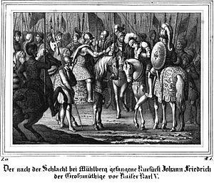Battle of Mühlberg - The Battle of Mühlberg by Eduard Sommer