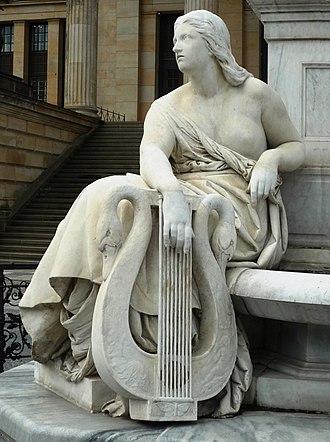 Schiller Monument (Berlin) - Image: Schillerdenkmal Berlin, Begas, Allegorie Lyrik