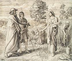 Rut samlar säd på Boas åker.