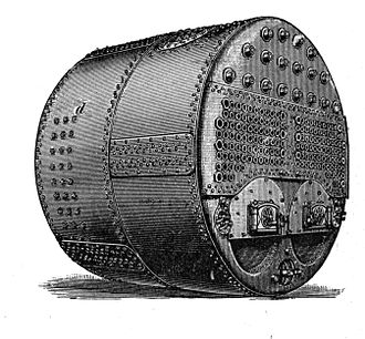 USS Maine (ACR-1) - Scotch two-furnace marine boiler