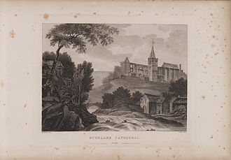 Dunblane Cathedral - Image: Scotia Depicta Dunblane Cathedral Plate
