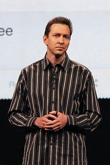 Scott Forstall presenting at Apple's Worldwide Developers Conference 2012.