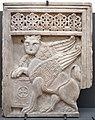 Scultore pugliese, lastra con leone alato, xi secolo.jpg