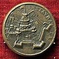 Scuola romana, medaglia di pio IV, castel s. angelo, brozno, variante con punto.JPG