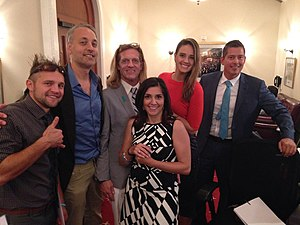Diem Brown - US Congressman Sean Duffy and various MTV alumni at the launch of Congressional Ovarian Cancer Caucus.