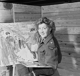 Second Lieutenant Molly Lamb of the Canadian Women's Army Corps (C.W.A.C.),.jpg