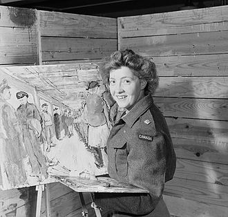 Canadian official war artists - Second Lieutenant Molly Lamb of the Canadian Women's Army Corps